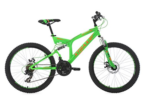 "KS Cycling Kinder Mountainbike Fully MTB Xtraxx 24"" grün-orange Fahrrad"