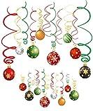 Sayala 30 Decoración Bolas navideñas Los remolinos Colgantes de Navidad, Las Corrientes del Techo de lámina para la decoración del Partido del Año Christmas / 2019