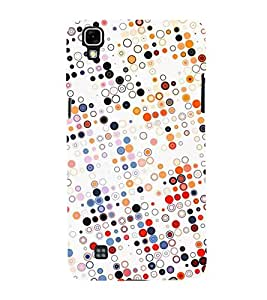 FUSON Randomly Colored Small Circles 3D Hard Polycarbonate Designer Back Case Cover for LG X Power :: LG X Power K220DS K220