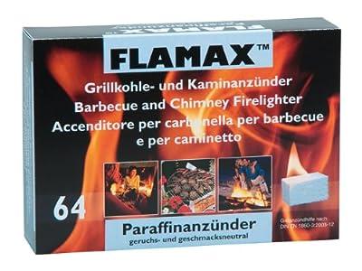 FLAMAX Anzünder für Kamin und Ofen, geruchlos, Doppelpack