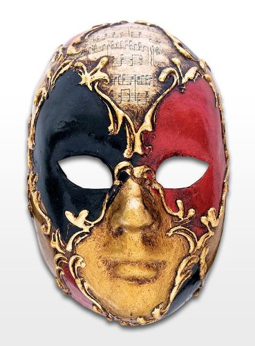 Venezianische Maske Storch Cicogna zu Karneval (Dellarte Commedia Kostüme Colombina)
