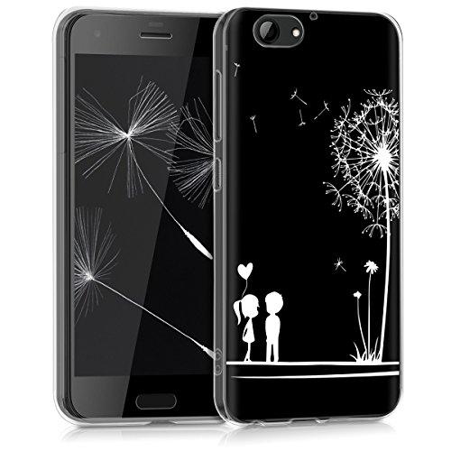 kwmobile HTC One A9s Hülle - Handyhülle für HTC One A9s - Handy Case in Weiß Schwarz