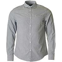 Armani Jeans Slim Fit Seersucker Striped Shirt