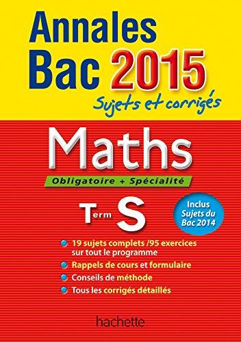 Annales Bac 2015 Maths Term S
