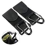 QY&W ganci 2 Pezzi di Ganci Appendiabiti in Metallo Clip per Shopping Bag per Passeggino Passeggino Passeggino Accessori per Passeggino