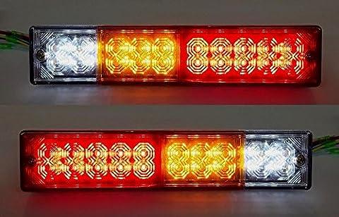 2x 12V 24V LED Feux arrière 237mm pour camion remorque