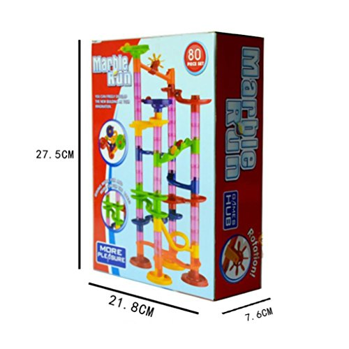 Shage Kunststoff Haus Bausteine Spielzeug DIY Maze Balls (C)