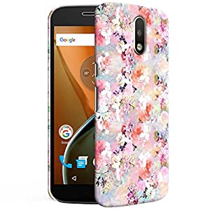 Theskinmantra Pink Rose Back cover for Moto G4 PLus