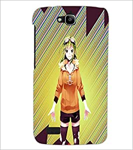 PrintDhaba Cute Girl D-4978 Back Case Cover for HUAWEI HONOR HOLLY (Multi-Coloured)