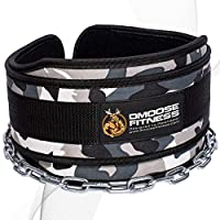"""DMoose Fitness Premium Dip Belt with Chain - 36"""" Heavy Duty Steel Chain, Comfort Fit Neoprene, Double Stitching - Maximize Your Weightlifting & Bodybuilding Workouts Universal gray"""