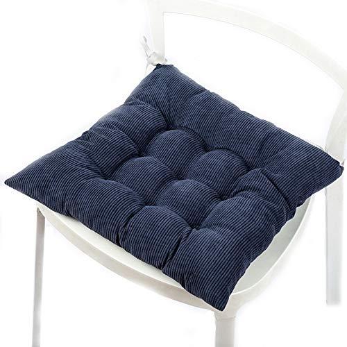 Xiaoming cuscino di ufficio traspirante pasto cuscino tessuto tatami cuscino elegante comfort relax sedile taverna cuscino,blue(40 * 40cm)