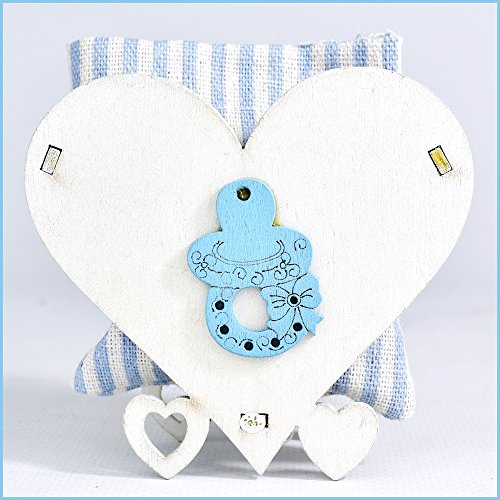 Set 6 pezzi - bomboniere nascita battesimo maschio sacchetto portaconfetti per confettata (soggetti vari)