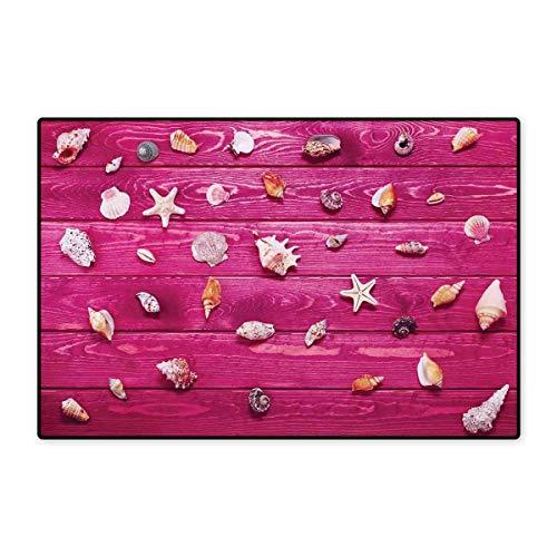 Rustikale Fußmatte Kleiner Teppich mit Gerbera-Gänseblümchen auf Eichenbaum, dramatischer südamerika/exotischer Fotobadematte, 40,6 x 61 cm, Pink/Braun 16x24 inch (40cm x 60cm) Color11