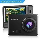 1080P Super Capacitor Dash Cam - AZDOME 2.45'' Car Camera with WiFi, Anti-shaked