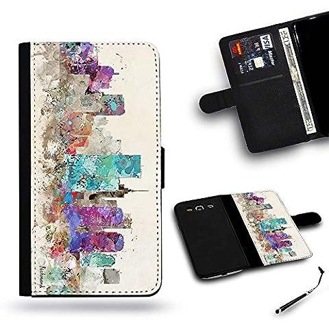 Pelle Portafoglio Custodia protettiva Cassa Leather Wallet Case for Samsung