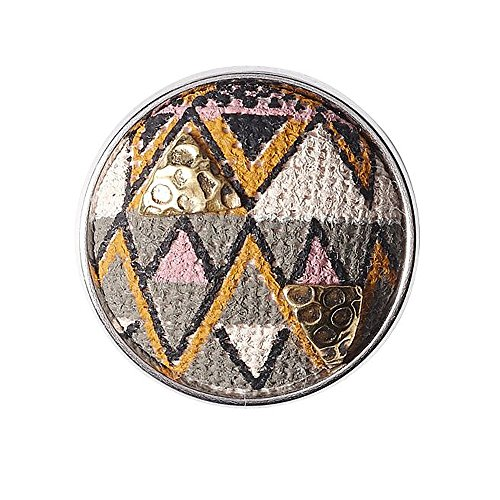 Noosa Chunk ZULU grey/ pink/ brass- fabric/ brass
