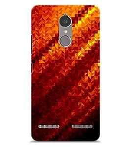 Chiraiyaa Designer Printed Premium Back Cover Case for Lenovo K6 Power (fire pattern texture) (Multicolor)