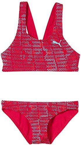 PUMA Active Allover Bustier Bikini G - Bañador de Dos Piezas para niña, Color Rosa, Talla 4 años...