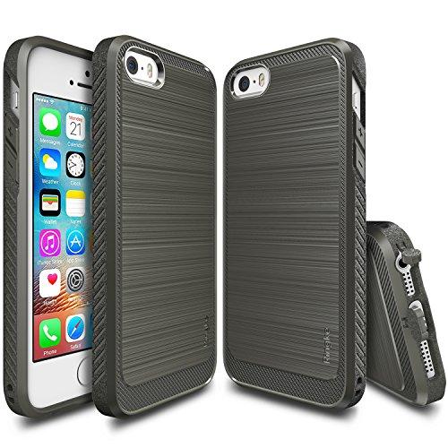 Cover pe iPhone 5/5S/SE con tappi anti polvere in TPU ultra resistente ed antiscivolo (Nero)