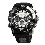 Globenfeld Limited Edition V12 - Herren Sport-Armbanduhr mit Metallgehäuse - stabiles Gummi-Armband - 5 Jahre Herstellergarantie - Schwarz