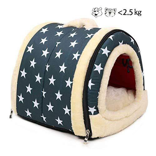 Enko 2 en 1 Cómodo Casa para Mascotas y Sofá, De Alta Calidad En Interiores y Exteriores Portátil Plegable de Cama Para Perro / Cama Para Gato. Una Casa Caliente Para su Mascota.(<3kg de mascota)