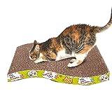 Jamisonme Scratcher Cat Carton à gratter, Tampon à gratter ondulé, grattoir pour Chat avec Agrafe Organique pour Chat (Formes S et M pour Option) (Forme S)