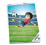"""Hausaufgabenheft / für Grundschule / DIN A5 / 48 Blatt / """"Fußball"""""""