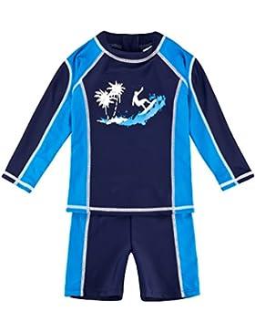 Landora®: Baby- / Kinder-Badebekleidung langärmliges 2er Set mit UV-Schutz 50+ und Oeko-Tex 100 Zertifizierung...