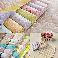 duanlidong Cotton Newborn Baby Towel Baby Wash Cloth Square Handkerchief Saliva Bib Care Towel Baby Wash Towel Newborn