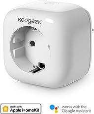 Smart Plug Koogeek Intelligente Wifi Steckdose funktioniert mit Alexa/Echo mit Apple HomeKit mit Google Assistant mit Siri Remote Control auf 2.4 GHz Netzwerk