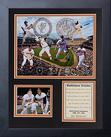Legends Never Die MLB Baltimore Orioles All-Time Greats Framed Photo Collage, 11 x 14