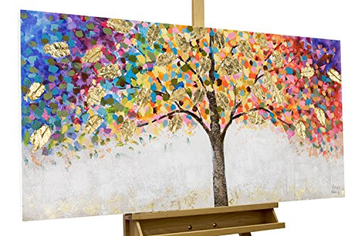 KunstLoft Acryl Gemälde 'Locus Amoenus' 120x60 | original handgemalte Leinwand Bilder XXL | Baum...