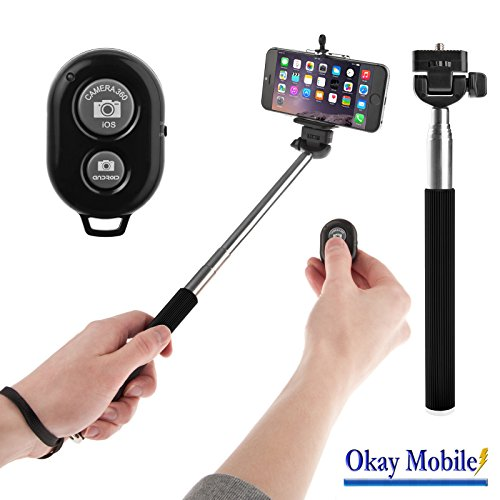 Bluetooth Auslöser Foto Video Selfie Stange Stab Stick Monopod Für Microsoft Lumia 650 Dual-SIM