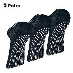 x3 Packung Pilates Socken, Yoga Socken - Martial Arts, Fitness, Zumba, Tanz - Anti-Rutsch - Full Toe Sports Socken - Unisex mit Grip, EU 40-45 - Von ATA®