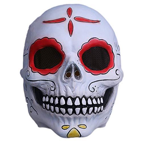 QQWE Halloween Horror Grimasse Maske Schädel Zombie Maske -