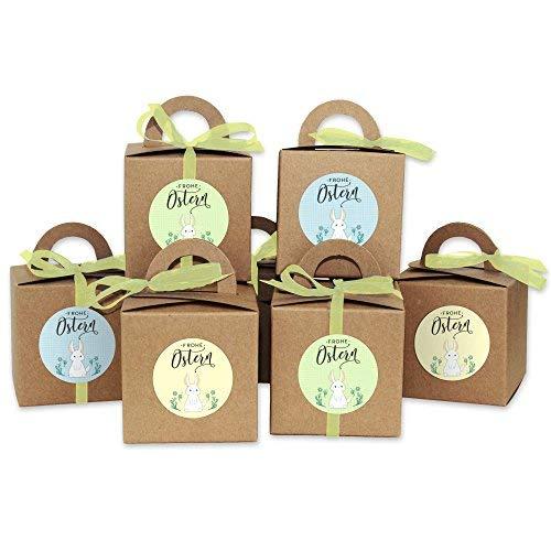 DIY Osterhasen Kisten - Kraftpapier Geschenkboxen zu Ostern - Geschenkverpackung zum Befüllen - für Kinder und Erwachsene