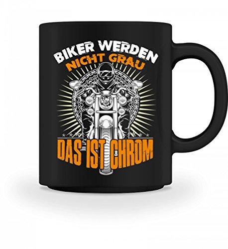 SwayShirt Hochwertige Tasse - Biker Werden Nicht Grau Das Ist Chrom · Motorradfahrer Geschenk · Motorrad · Kaffeetasse