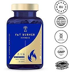 Quemagrasas Natural Termogénico Adelgazante Fat Burner Supresor de Apetito Ingredientes 100% Naturales 120 Cápsulas Vegetal Alta Concentración Certificado VEGANO Fabricado en CE. N2 Natural Nutrition