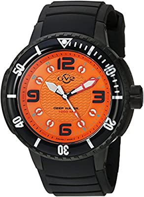 GV2 by Gevril Men's Analog Quartz Watch with Rubber Strap 8904