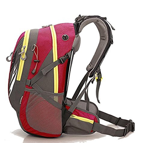 42L Rucksack Large Capacity Rucksack Reise Rucksack Camping Car Outdoor Tasche rosa / rot / grün / blau red