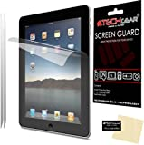 [2 Pack] TECHGEAR® Apple iPad 4 iPad 3 & iPad 2 Clear Screen Protector Guard Covers with Cloth & App Card - for 2nd, 3rd & 4th Generation iPad