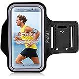 Brassard Sport - Profer pour iPhone 7 Housse Etui Coque portable Imperméable Poche pour clés longueur variable pour smatphones avec ecouteurs sans fils(Noir)