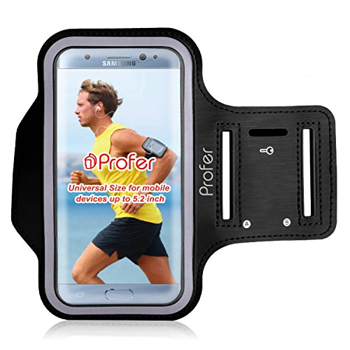 Preisvergleich Produktbild 4, 7 Zoll bis 5, 2 Zoll Armband,  Profer Neopren Fit Sportarmband Gürtel Armbänder mit verstellbarer Riemen für iphone 7 6 6s / Hauwei Honor 7 5C Nova / Samsung J5(J500FN) / Samsung A5 2016(SM-A510F) / HTC 10 / Lumia 650 950 / Sony Xperia X Compact E5 / Nexus 5X / Google Pixel usw.(1-Version)