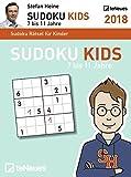 Stefan Heine: Sudoku Kids 7 bis 11 2018 - Tagesabreißkalender, Rätselspaß, Logik und Wissen  -  11,8 x 15,9 cm