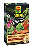 COMPO, Concime Universale Con Guano, Per Orto E Giardino, 1 Kg, Marrone