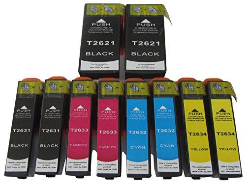 Preisvergleich Produktbild 10 komp. XXL Druckerpatronen für Epson Expression Premium xp 510 520 600 605 610 615 620 625 700 710 720 800 810 820 2 x schwarz 2 x photoschwarz 2 x blau 2 x rot 2 x gelb
