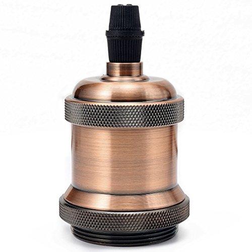 Preisvergleich Produktbild GreenSun LED Lighting Vintage Edison Lampenfassung E27 Fassung Deckenfassung Sockel Lampenfuß Retro Hängelampe Halter Pendelleuchte Adapter DIY Lampenzubehör,  Rot Antique Brass