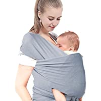 Echarpe de Carrier, Justimebaby Écharpe de transport, Porte-bébé en coton  élastique, 364fc5736df