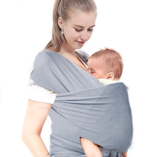 Baby Wrap Carrier Adjustable Breastfeeding Cover Cotton Sling Justime Baby Sling Infant Carrier Nursing Cover For Infants And Newborn Hands Free