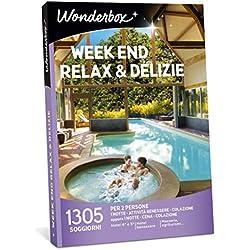 Wonderbox Cofanetto Regalo per San Valentino - Week End Relax & DELIZIE - 1305 SOGGIORNI per 2 Persone